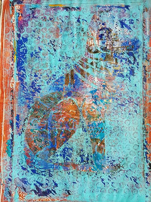 Orange & Blue Pharoahs Dog Limited Edition Print