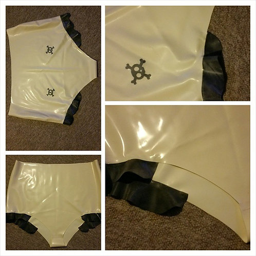 Plus Size Latex *Alannis* High Waisted Knickers .. SS2015 ..