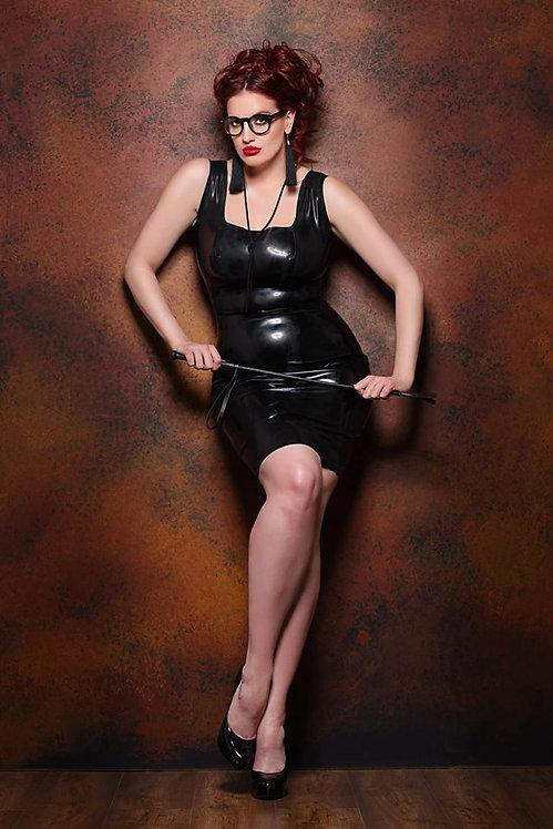 Petite/Plus Size Latex *Alexandrina* Wiggle Dress .. SS2016 ..