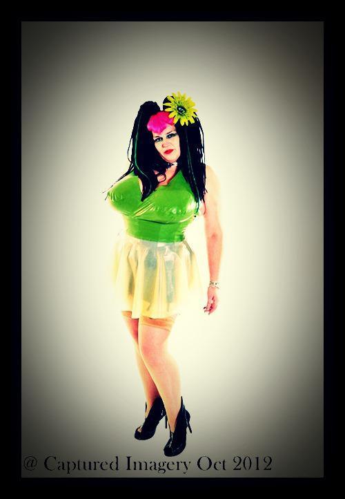 Plus Size Latex *Arrow* Halter Phoenixx Dress .. SS2012