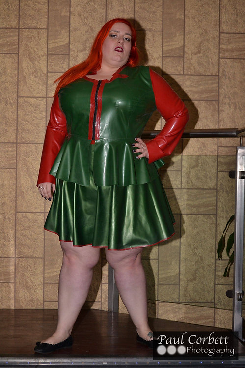 Plus Size Latex Military Jacket