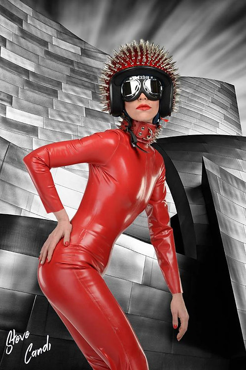Petite Size Latex * * High Neck Catsuit .. SS2018