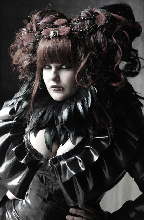 Plus Size Latex *Bay* Double Frilled Jacket  .. SS2010
