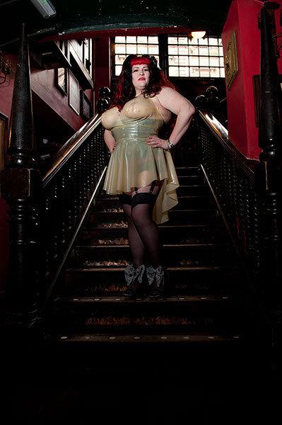 Plus Size Latex *Aroha* Halter Phoenixx Dress .. SS2012