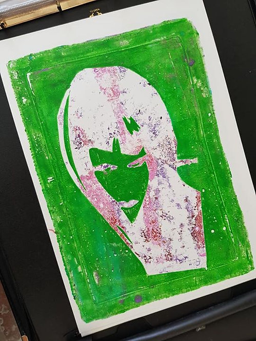 Green Face of a Lady Limited Edition Print