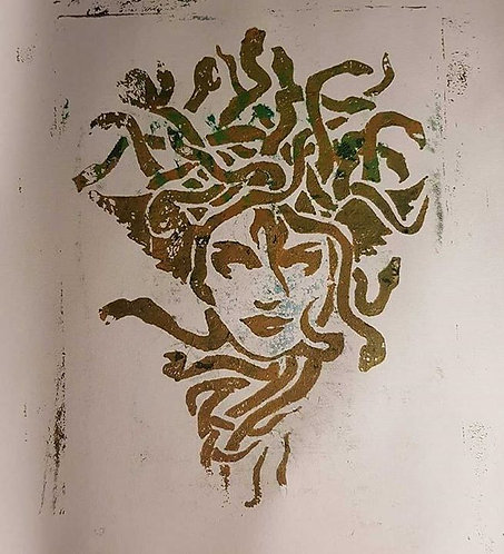 Gold Medusa Limited Edition Print