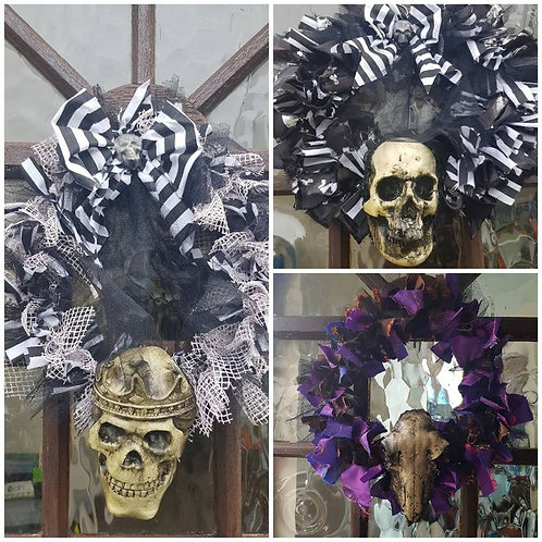 Pirate themed with Skull Door Wreath