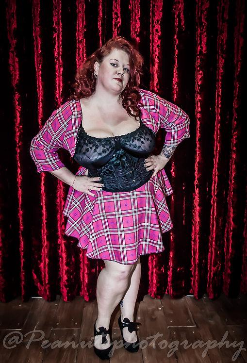 Plus Size Bolero & Skirt Tartan Print Fabric 2 piece set ..