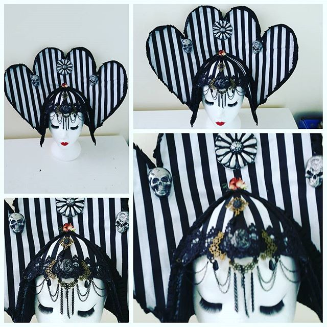 Another Beetlejuice Headdress commissioned by a lady in Ibiza .