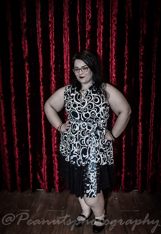 Plus Size Black & White Print Fabric Multiway Dress ..