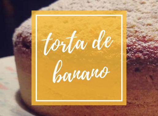 Torta de banano hecha en licuadora