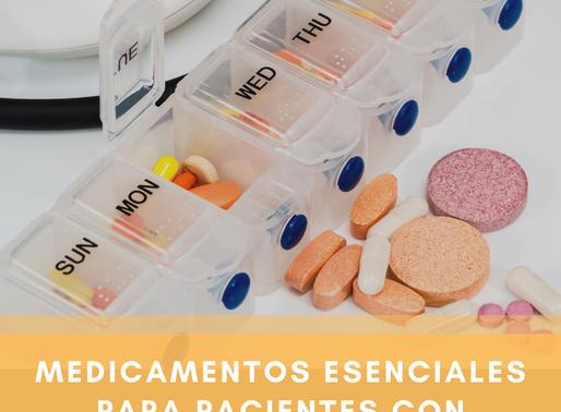 Medicamentos esenciales para pacientes con esclerosis múltiple.