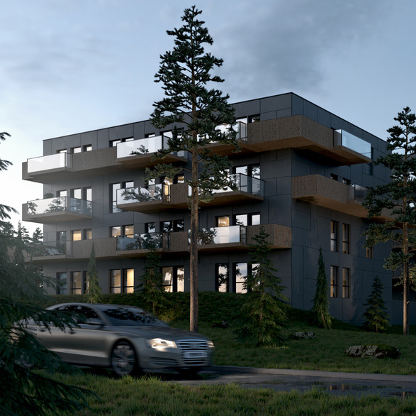 Nordic Style Five-Story Apartment Building in Oslo