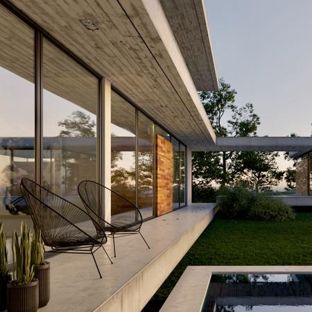 Concrete Lakeside Home