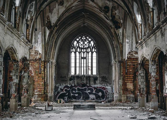 Graffiti tag in Detroit, Michigan.