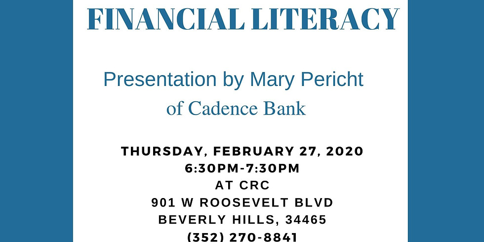 Financial Literacy Family Night Central Ridge Club