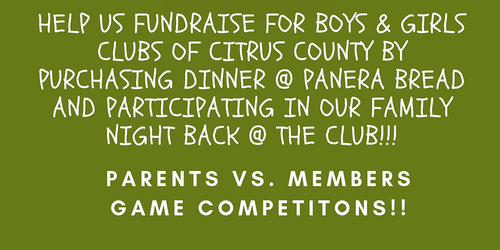 Panera Bread Family Night Event Evelyn Waters Club