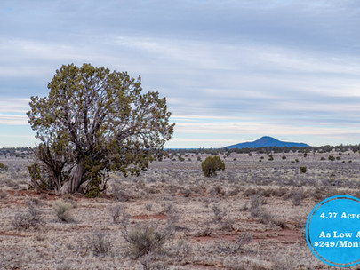 SOLD! - Private Off-Grid 4.77 Acres near Flagstaff & Grand Canyon - Lot #012