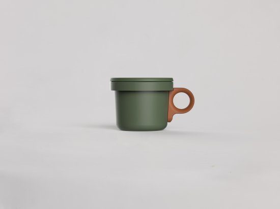 Enamel Hook Short Mug Khaki