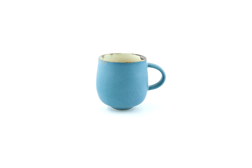 Cup in Muted Glaze Blue Series