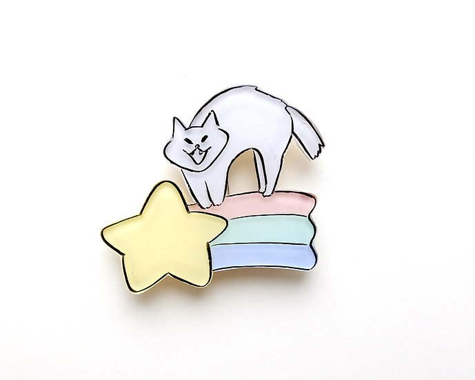 Riding on the Star | Brooch