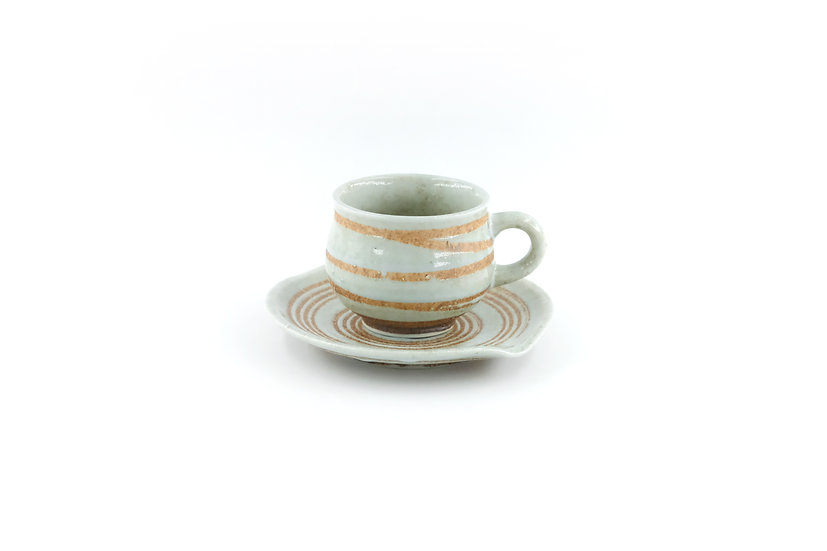 Mino | Shino Coffee Cup & Saucer