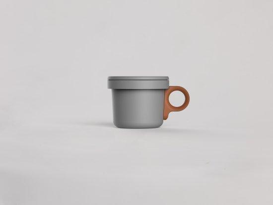 Enamel Hook Short Mug Gray