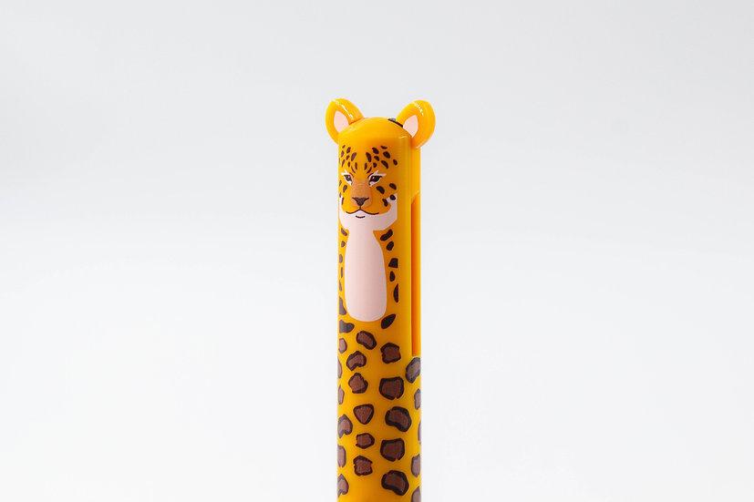Wild Animal Duo Colour Ballpoint Pen
