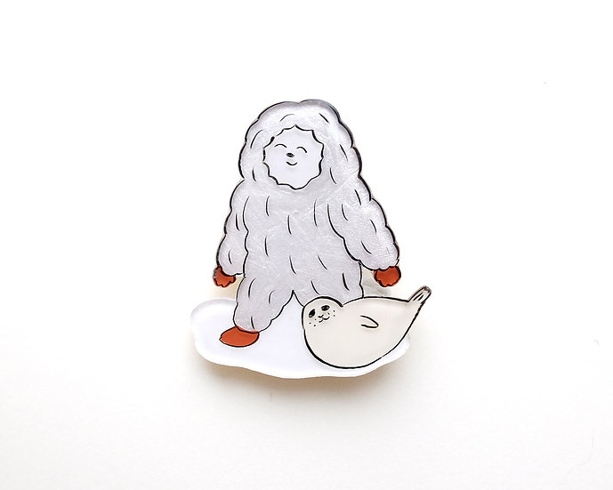 Yeti and Seal | Brooch