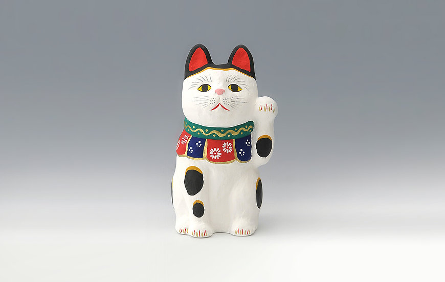 招福陶貓(白)