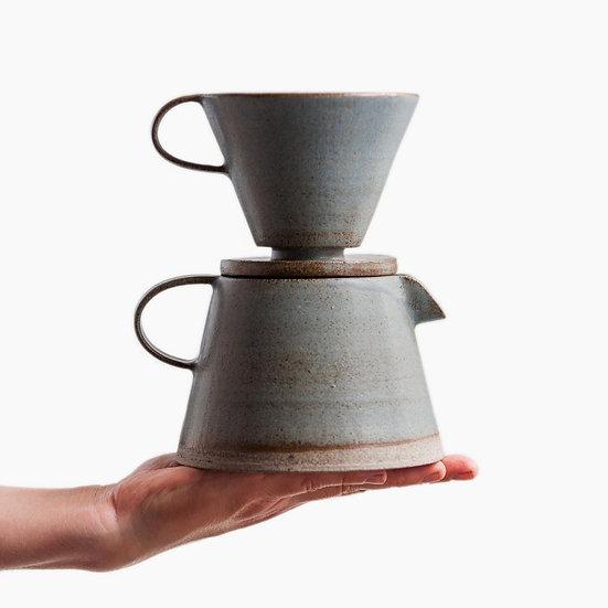 Birdman's Stoneware Coffee Dripper & Pot Set