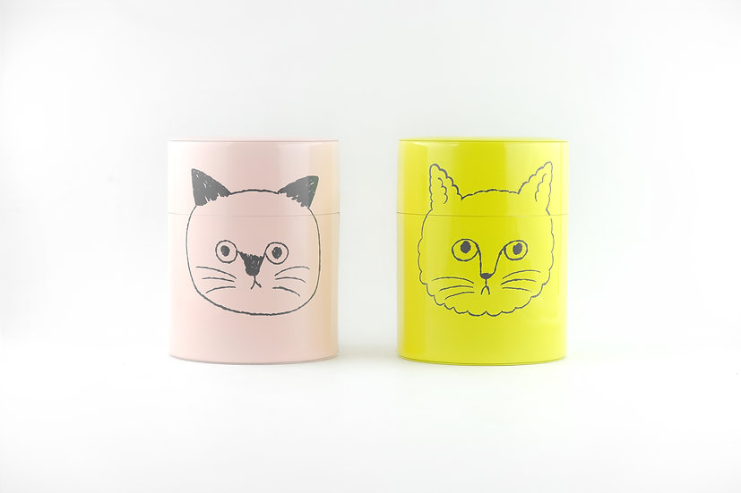 Handmade Blankly Cat Tin Can