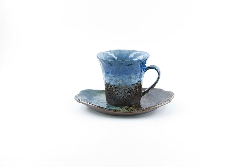 Mino | Blue Pea Cake Roll Cup & Saucer