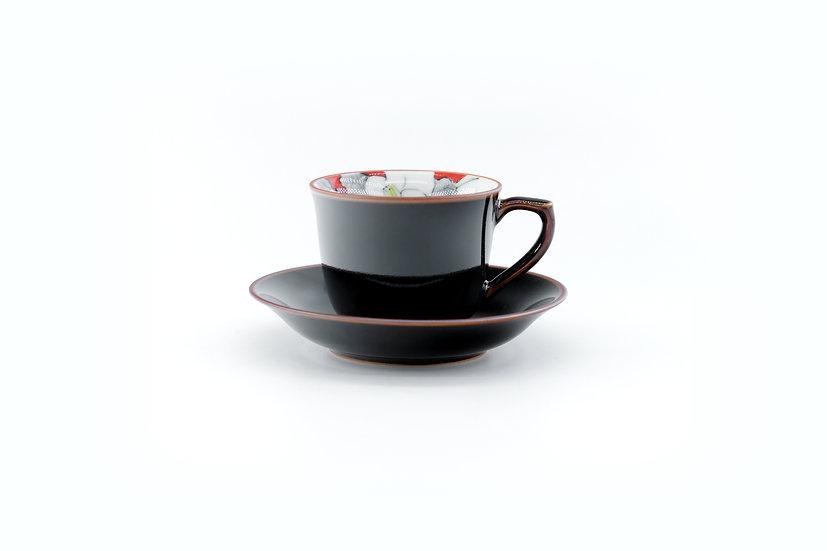 Arita | Red Camellia Cup & Saucer