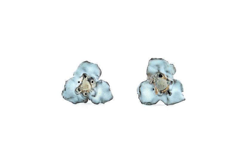 Gold Glaze Ceramic Flower Earring A
