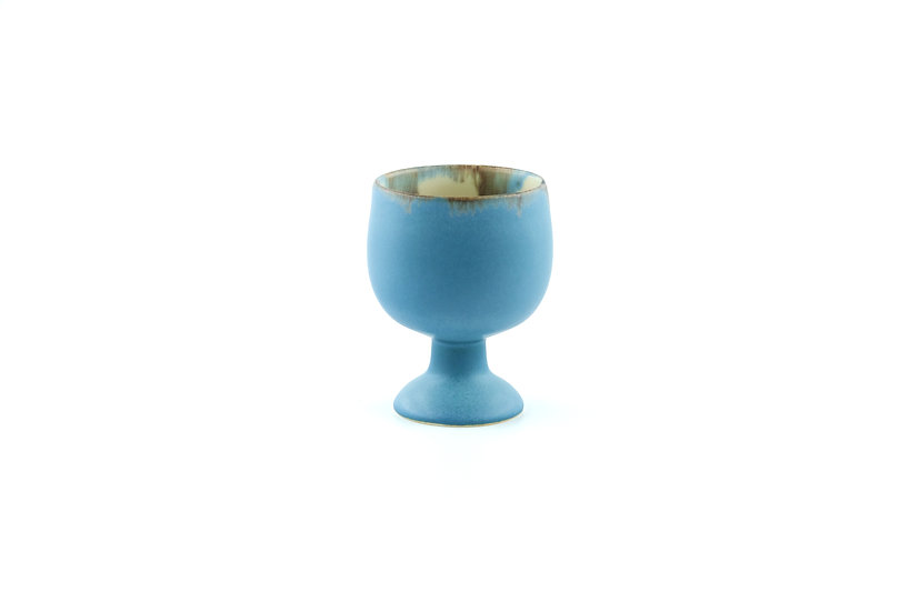 Goblet in Muted Glaze Blue Series