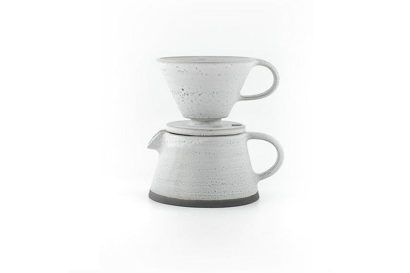 Birdman's Stoneware Coffee Dripper and Pot Set