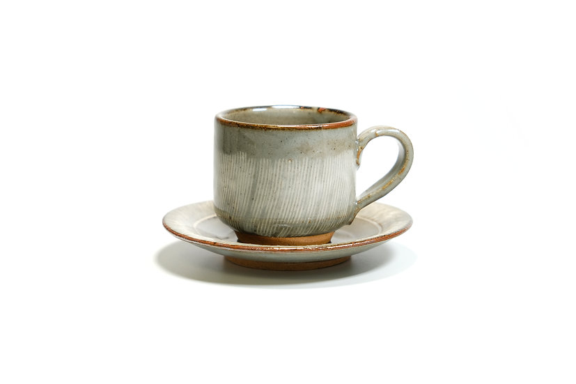 Mino | Rust Grey Cup and Saucer