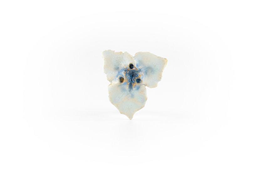 Miki Furuhata Gold Glaze Ceramic Flower Brooch B