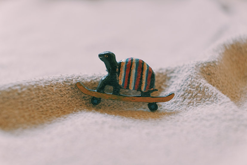 Torinoko Wooden Brooch Turtle B