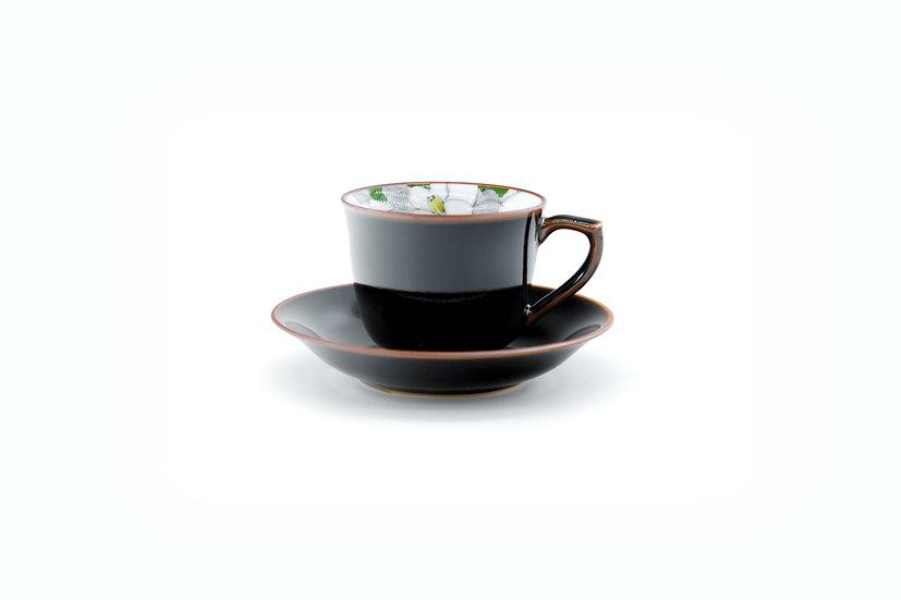 Arita | Green Camellia Cup & Saucer
