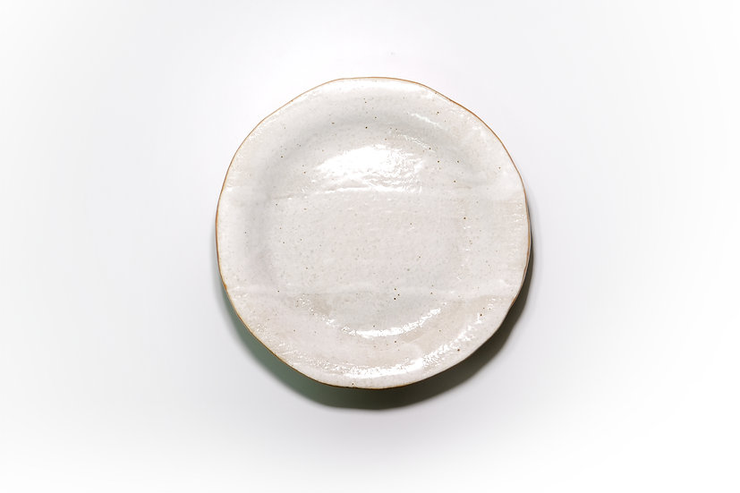 Mino   White Glazed Round Plate