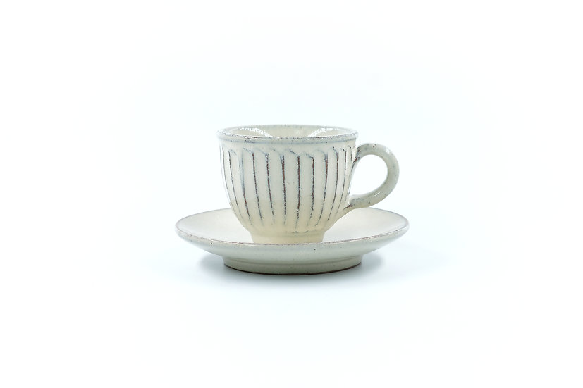 Shigaraki |  Shiroyu Cup & Saucer