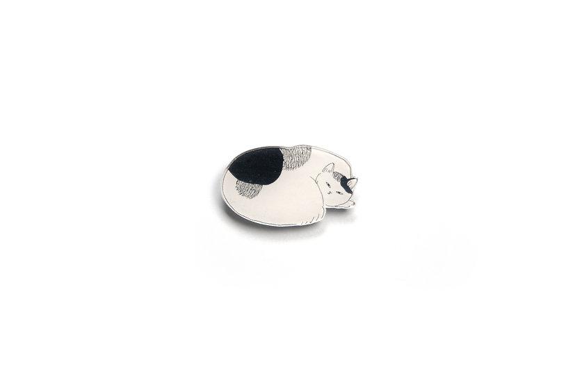 Monochrome Cat Brooch 6