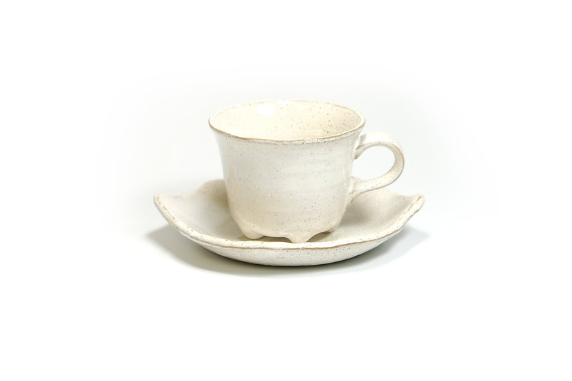 Mino | Creamy Cup and Saucer