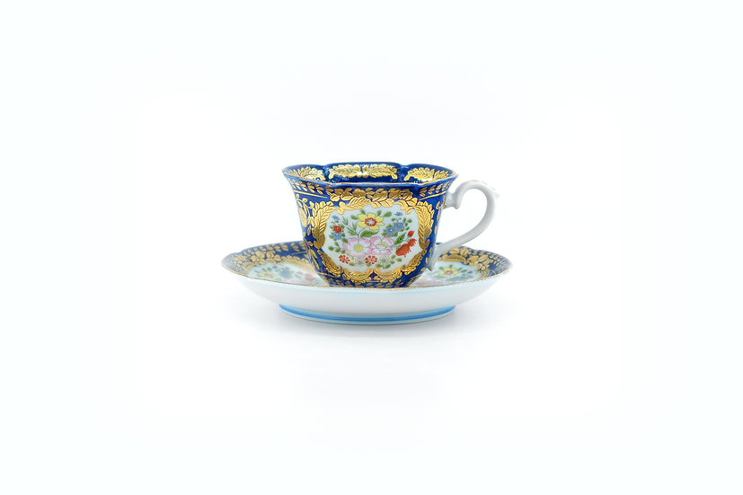 Arita | Versailles Blue Cup & Saucer