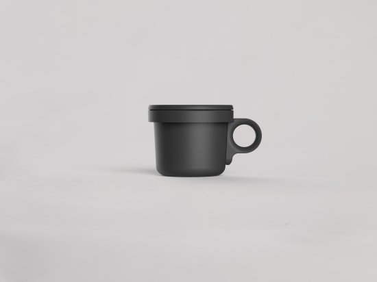 Enamel Hook Short Mug Black