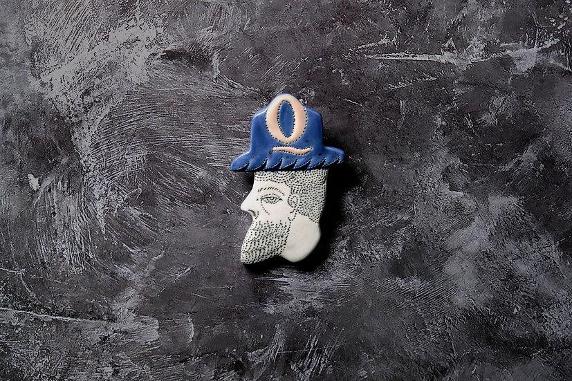 uniQue x Eriko Q Brooch Blue Limited Edition