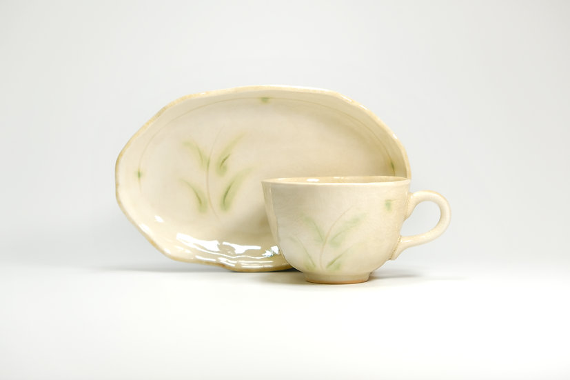 Mino | Silvergrass Cup and Saucer
