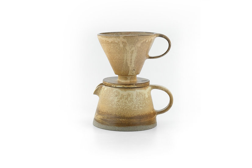 Birdman's Stoneware Coffee Dripper and Pot Set